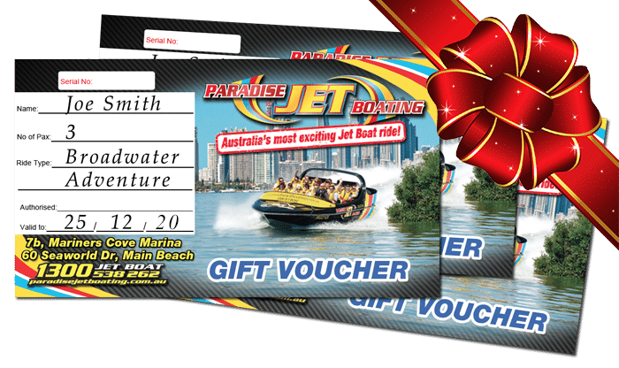 Christmas Gift Voucher for Jetboating